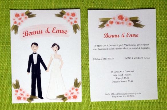 Modern Düğün Davetiyesi