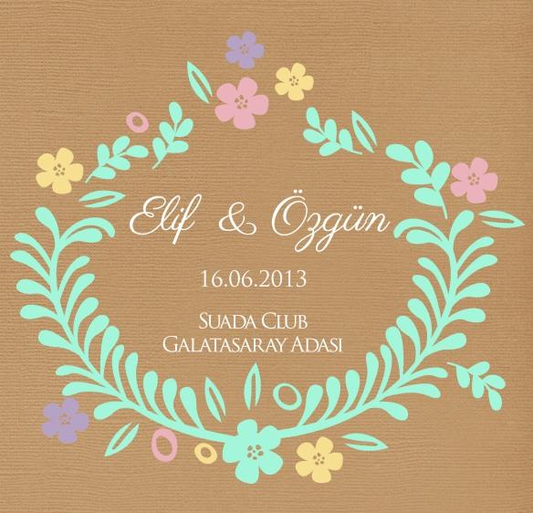 Düğün Davetiyesinde Logo